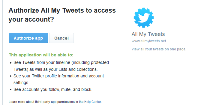 all my tweets.net